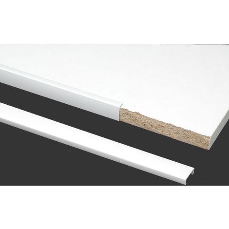 profil de chant prunier u 19 x 10 blanc 2600 mm ribs319