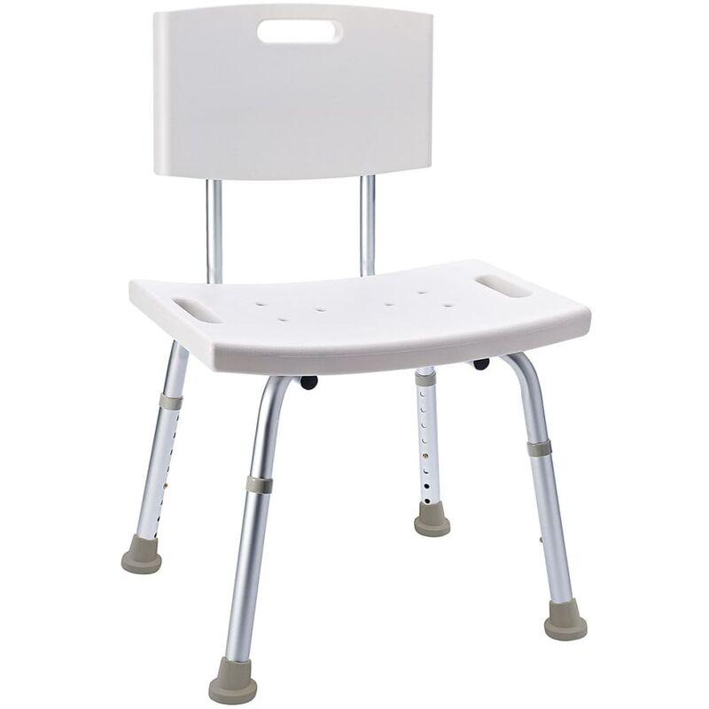 ridder chaise de salle de bain blanc 100 kg a00602101