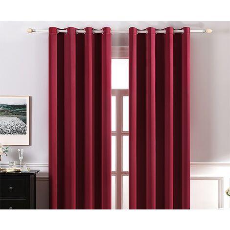 double rideaux rouge a prix mini