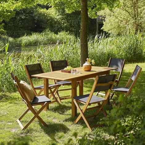 table de jardin extensible largeur 80