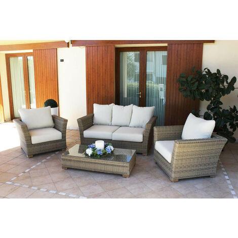 Nonostante si tratti di un divano gonfiabile da giardino, abbiamo visto che la comodità è comunque una delle sue caratteristiche principali. Primatronic Set Divano E Due Poltrone Da Giardino Alabama Bianco Design Moderno Made In Europe Set Divani Casa E Cucina