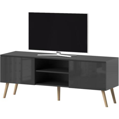 meuble tv noir mat a prix mini