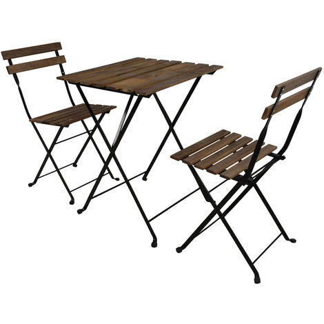 Set Tavolo Bar E 2 Sedie Marrone Noce Sedie Salotto Relax Caffe Legno Ferro Ikea