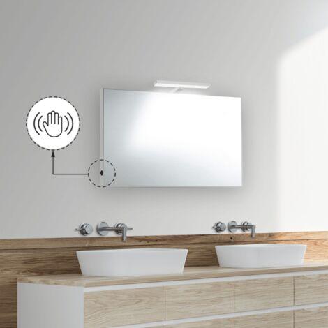 Applique a led per specchi o faretti da bagno, speciali plafoniera da bagno. Specchio Bagno 70x50 Cm Reversibile Con Lampada Led Premium Da 30 Cm Bathroom Accessories Home Garden
