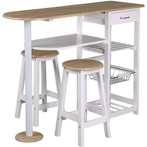 table bar et 2 tabourets de cuisine desserte de cuisne table d appoint l 119 x p 37 x h 88 cm