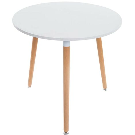 table de cuisine table d appoint ronde 3 pieds en bois clair o80 cm noir