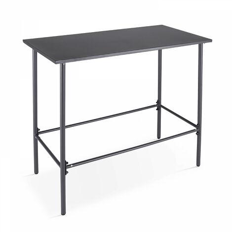 table de jardin haute en acier thermolaque gris palavas gris