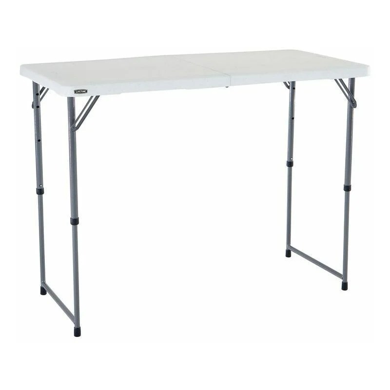 table rectangulaire pliante en 2 lifetime 122 x 61 cm hauteur ajustable 4 personnes
