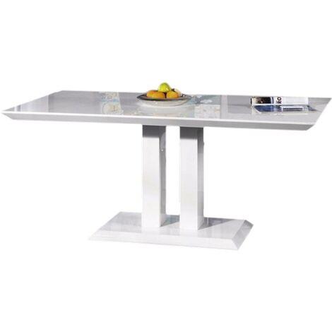table repas alina blanc laque