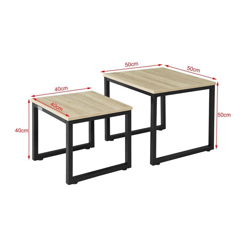 tables basses gigognes set de 2 lot de 2 tables d appoint empilables fbt42 n sobuy