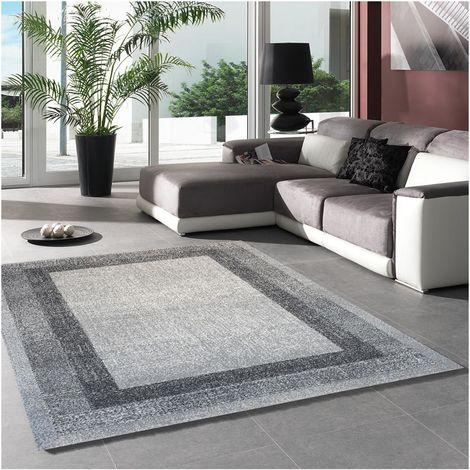 tapis moderne cm rectangulaire chester gris polypropylene