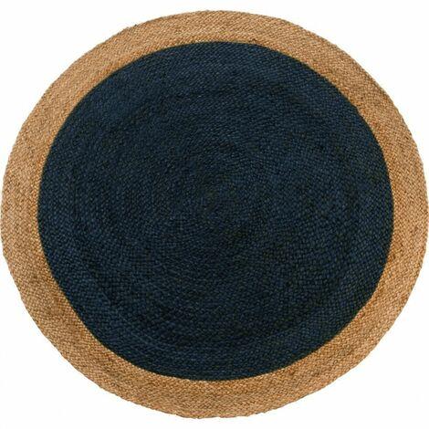 tapis rond bleu a prix mini