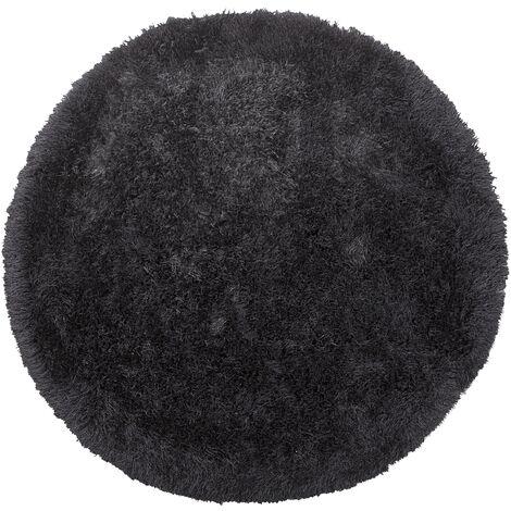 tapis rond noir a prix mini
