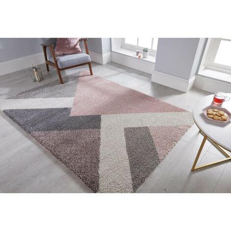 tapis shaggy rose a prix mini