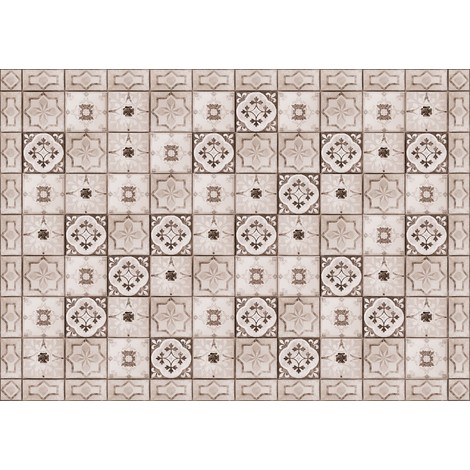 tapis cuisine vinyl carreaux de ciment