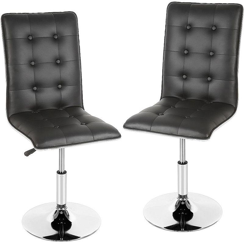 ultra confortable 2 chaises de cuisine salon salle a manger design hauteur reglable 38cm 55cm noir