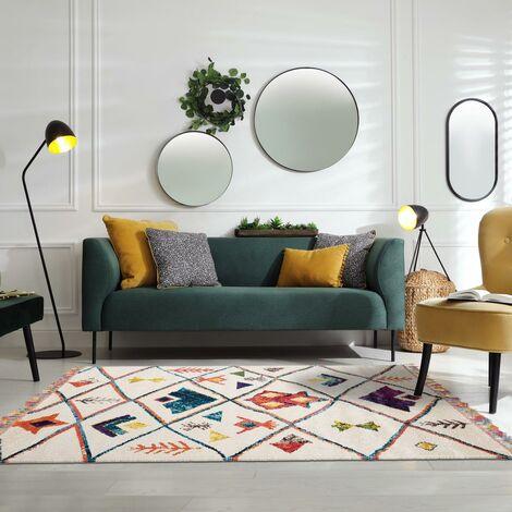 tapis blanc a prix mini