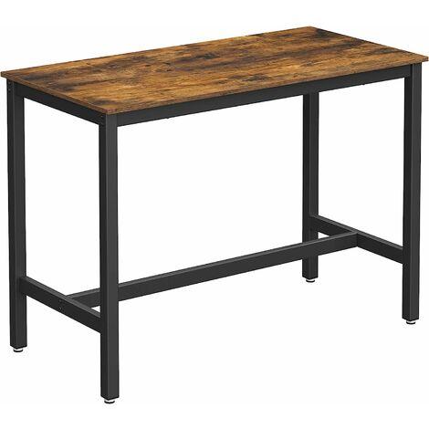 vasagle table haute de bar table polyvalente avec armature en fer pour boissons cocktails bar brasserie restaurant salon cuisine stable