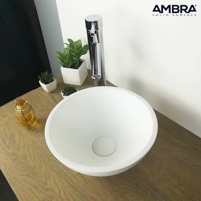 Vasque A Poser Ronde 30 Cm En Solid Surface Bolea Va Ss 9038 300