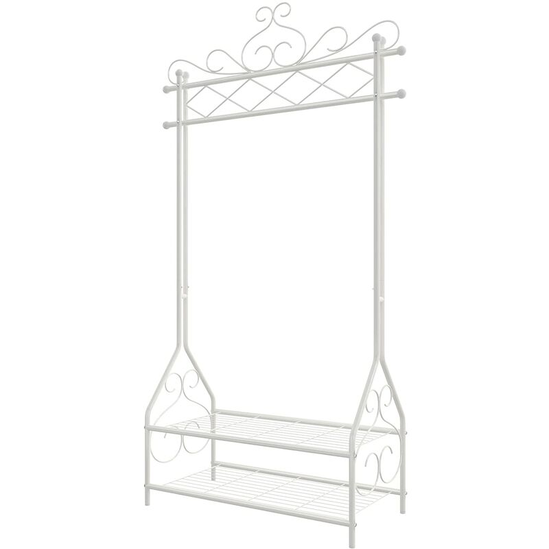 Vintage Clothes Stand and Rack with Garment Rail and 2