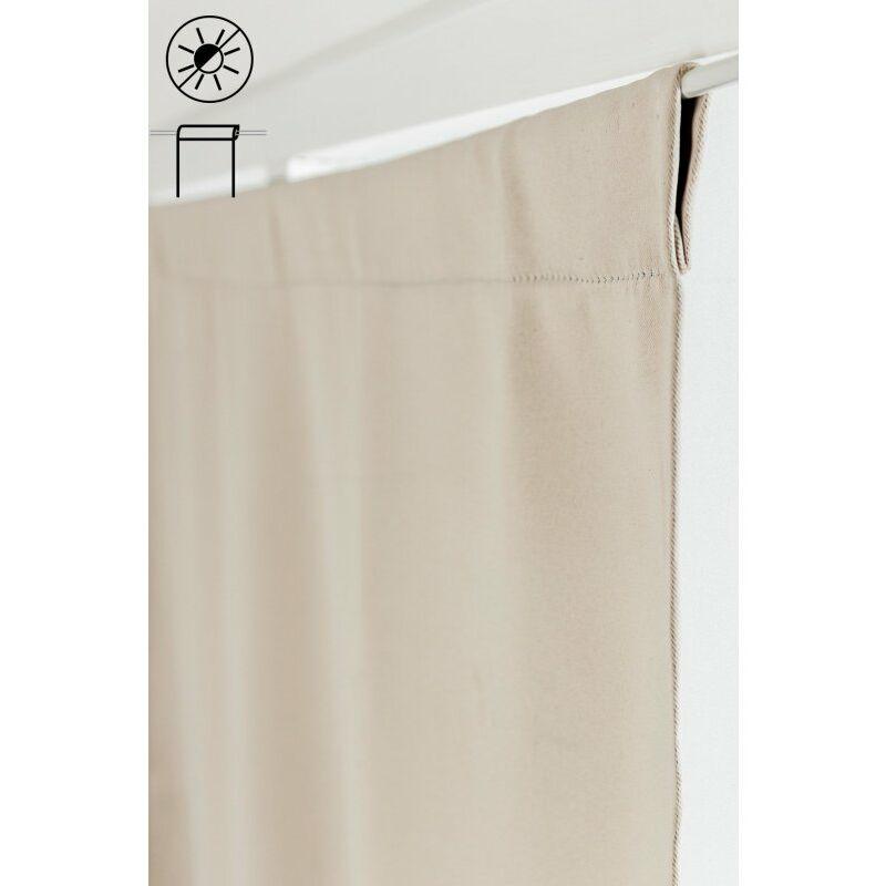 x 120 cm passe tringle tissu