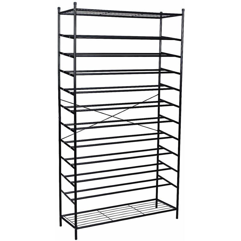 XXL 12 Tier Metal Shoe Rack Storage Organiser Stand