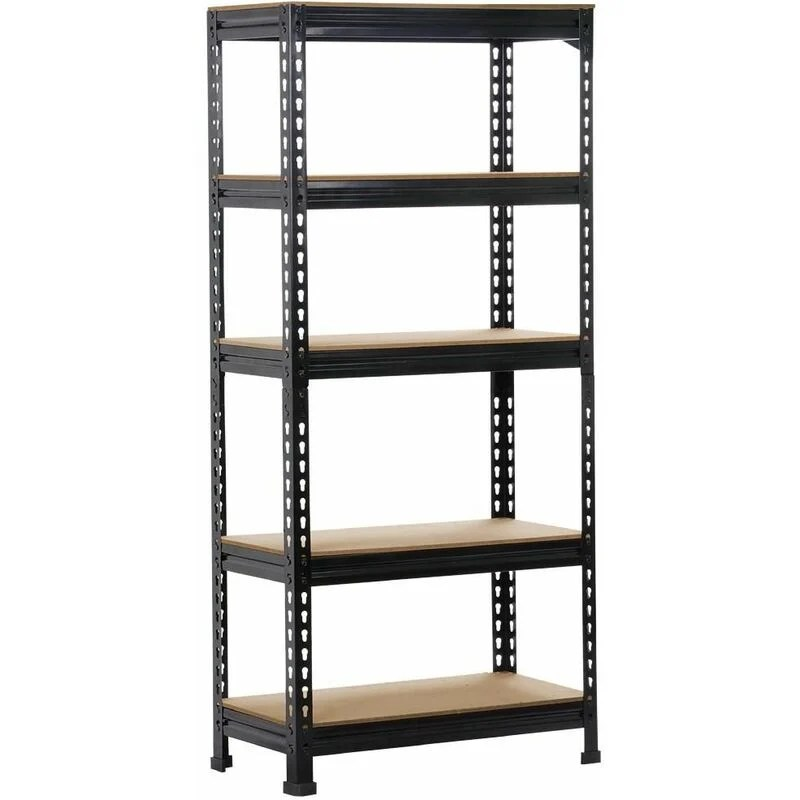 yaheetech etageres de rangement 150 x 70 x 30 cm etagere metallique atelier garage cuisine charge lourde 150 kg par niveau sans boulons noir