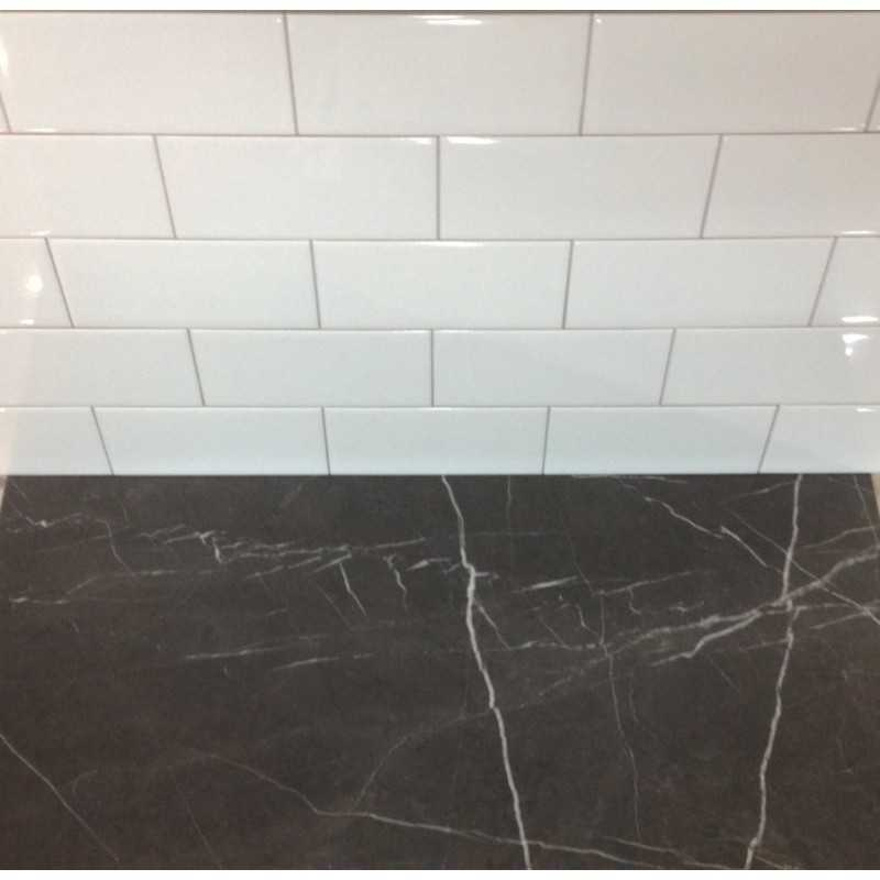 White Gloss Subway Tile NonRectified Ceramic