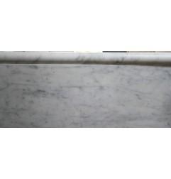 carrara honed bullnose capping marble 305x30