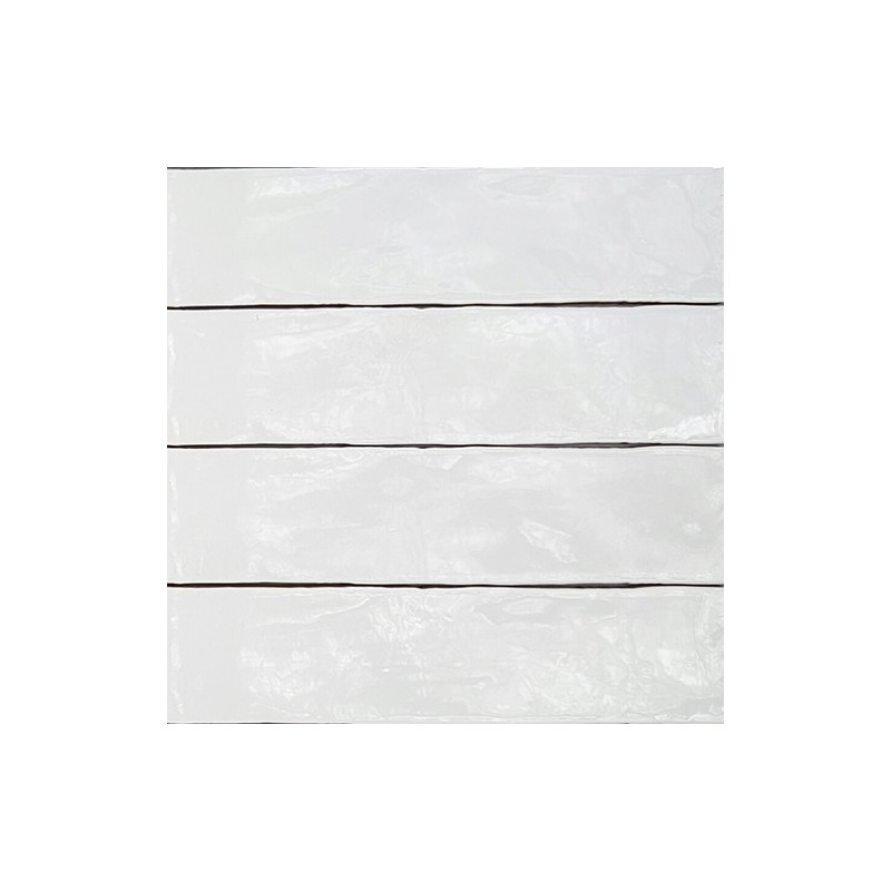 Spanish Handmade Super White Gloss Subway Ceramic 300x75