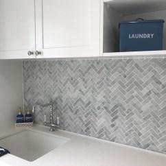 Onyx Kitchen Backsplash Sink Black Carrara Herringbone Marble Mosaic 64x20 Bathroom Tiles