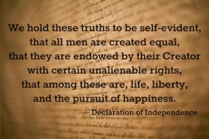 Declaration of independence quote