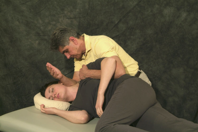 The hallmarks of Thai massage, including table Thai massage, include: the use of momentum and gravity rather than muscular strength