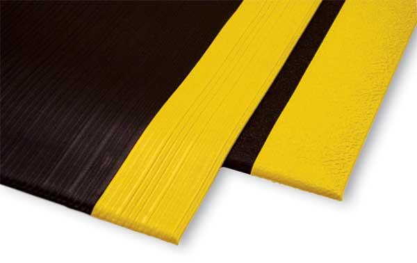 Safety AntiFatigue Mat with Yellow OSHA Borders