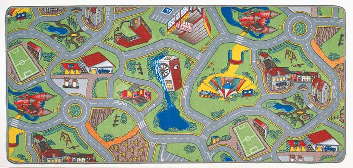 Streets Play Mats For Kids Play Rug For Cars  More