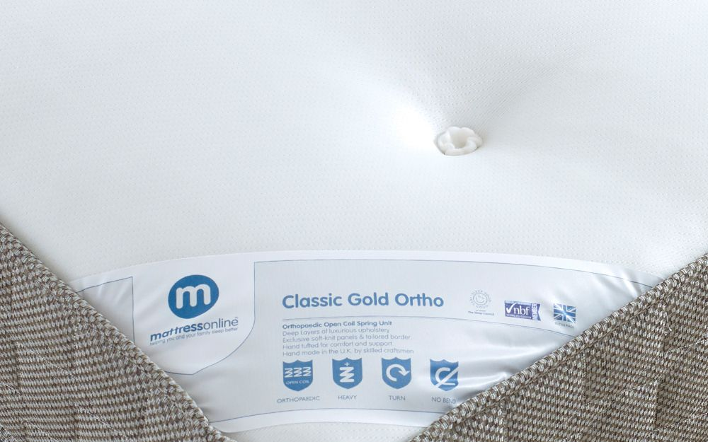 Classic Gold Ortho Mattress  Mattress Online