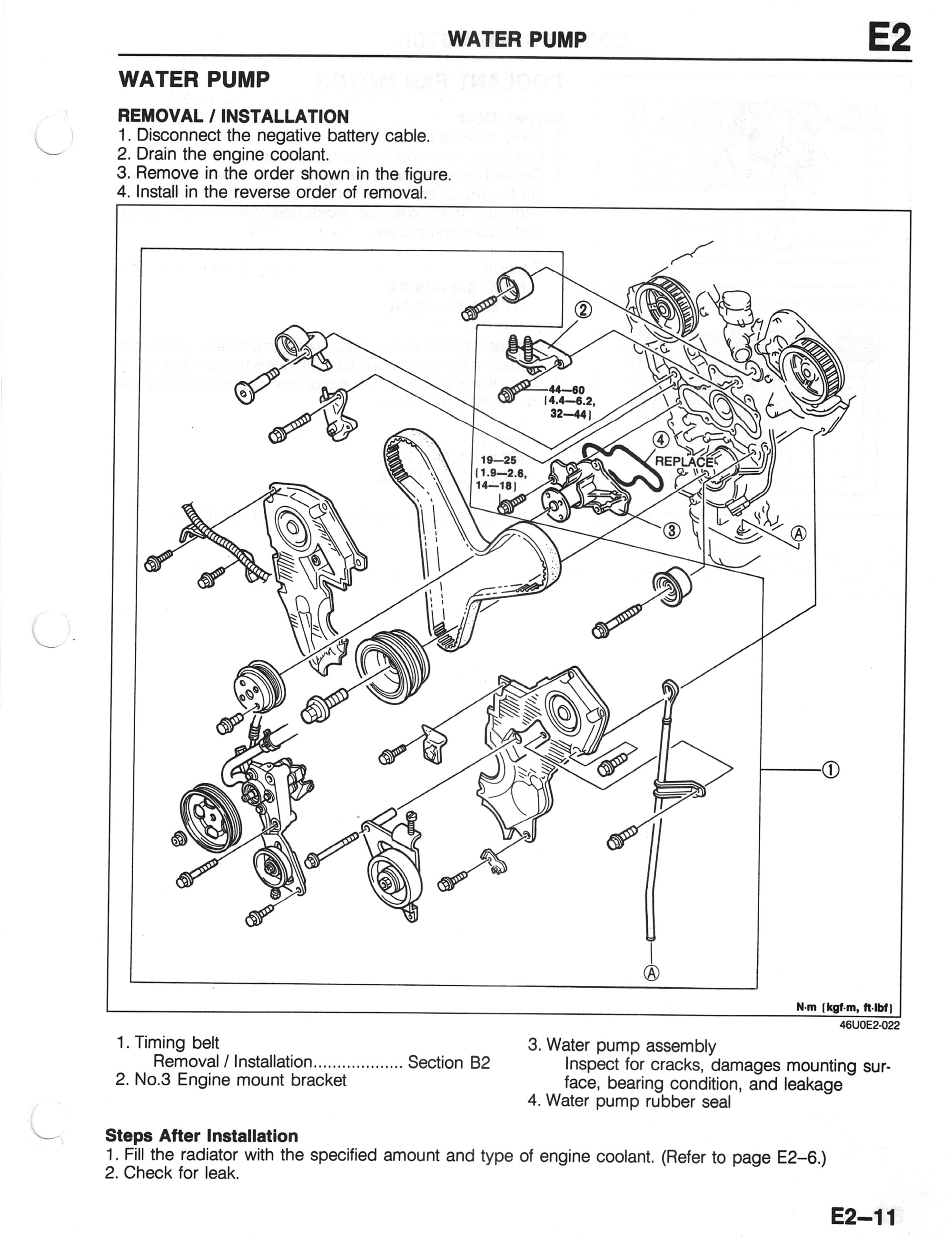 hight resolution of is it the water pump 1993 2002 2 5l v6 mazda626 net forums rh mazda626 net 2004 mazda 6 cylinder diagram 2004 mazda 6 cylinder diagram