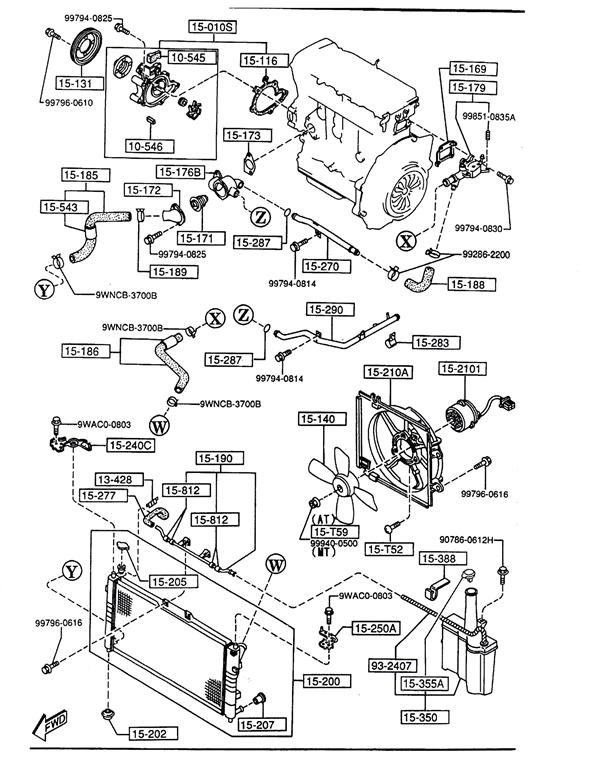 Mazda Clutch System Diagram, Mazda, Free Engine Image For
