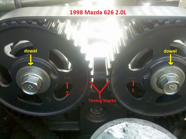 1996 Mazda Protege Serpentine Belt Routing And Timing Belt Diagrams