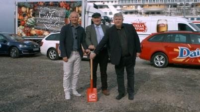 Magnús Óli Ólafsson, Gísli Gíslason og Ólafur Björnsson við fyrstu ...