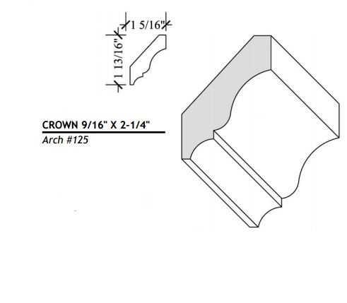 Architectural Millwork 3/4x4-1/2 Cherry Crown #S319-CH