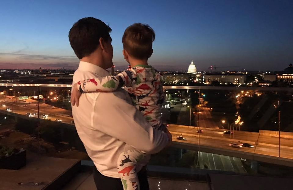 Rep. Scott Taylor and his son, XXXX (XX). (Photo courtesy of Taylor's Facebook)