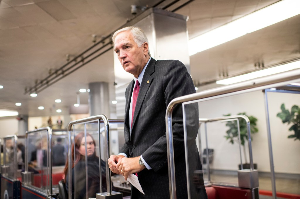 "Alabama Sen. Luther Strange says he was involved with a group, Conservative Lawyer for Trump, ""long before the election."" (Bill Clark/CQ Roll Call)"