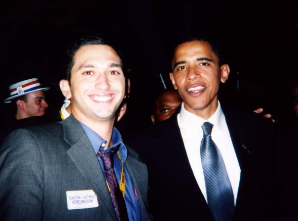 Sam Jammal met President Barack Obama as a young college graduate in 2004 and worked in the Obama administration. He is now running in California's 39th District (Sam Jammal)