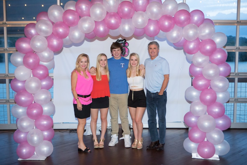From left to right: Linda McCaul, triplets Avery, Michael and Lauren and Rep. Michael McCaul at their Sweet 16 party in August. (Courtesy McCaul's office)