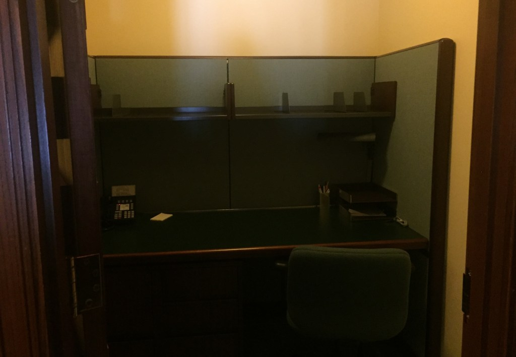 The small study rooms in the balcony inside the Congressional Reading Room. (Alex Gangitano/CQ Roll Call)