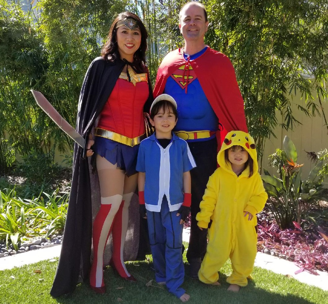 Rep. Stephanie Murphy and her husband, Sean, dressed up with the children this weekend. (Courtesy Murphy)