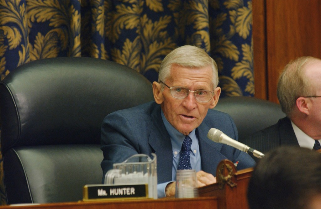 5/1/02.HOUSE ARMED SERVICES/FISCAL 2003 DEFENSE AUTHORIZATION BILL--Chairman Bob Stump, R-Ariz., during the markup..CONGRESSIONAL QUARTERLY PHOTO BY SCOTT J. FERRELL