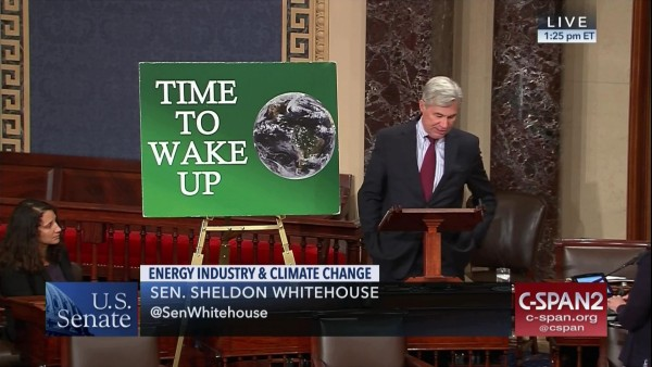 Whitehouse delivering one of the 200 speeches. (CSPAN)