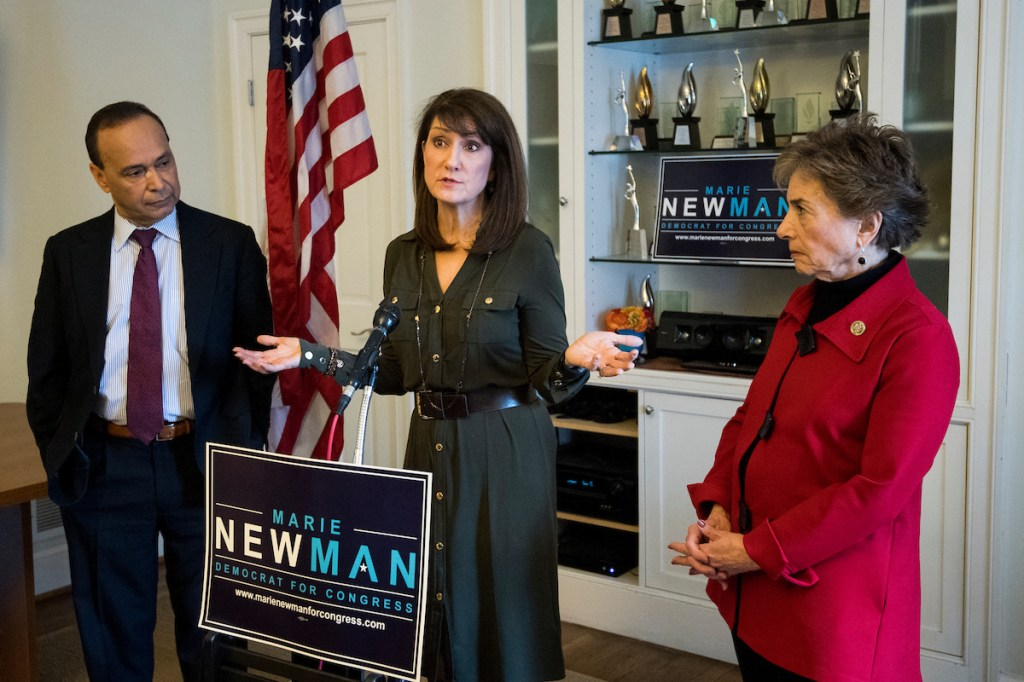 Marie Newman is taking on Democratic Rep. Dan Lipinski in Illinois' primary on Tuesday. (Bill Clark/CQ Roll Call file photo)